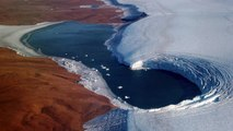 Glacier Melt Exposes Ice From Ancient Times