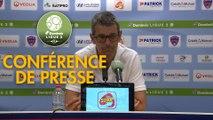 Conférence de presse Clermont Foot - AS Nancy Lorraine (2-2) : Pascal GASTIEN (CF63) - Jean-Louis GARCIA (ASNL) - 2019/2020