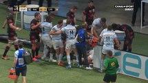 Une grosse bagarre éclate entre les joueurs du Racing 92 et du LOU Rugby