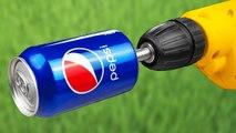 YEAH! 12 USEFUL IDEAS WITH DRILL MACHINE  Coca cola - Pepsi