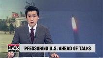 N. Korea fires missiles to raise bargaining power ahead of working-level talks: Expert