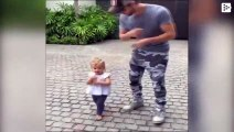 The cute dance of Enrique Iglesias and his daughter