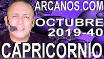 HOROSCOPO CAPRICORNIO ARCANOS.COM - 29 de septiembre a 5 de octubre de 2019 - Semana 2019-40
