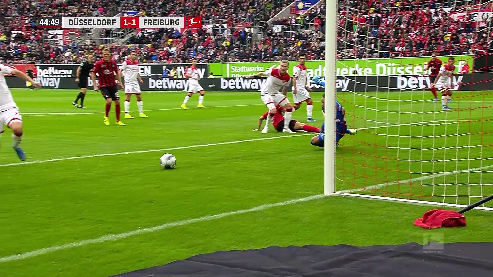 6. Hafta / Fortuna Düsseldorf - Freiburg: 1-2 (Özet)