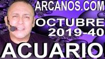 HOROSCOPO ACUARIO ARCANOS.COM - 29 de septiembre a 5 de octubre de 2019 - Semana 2019-40