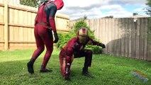 IRONMAN VS VENOM with Spiderman & Deadpool Part 7