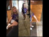 Little Girl Insists on Wearing Heels Even Though They Hurt Her Feet