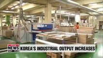 Korea's 3 major indicators of industrial activity all increased in August