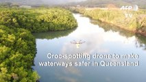 Croc-spotting drone patrol takes off Down Under