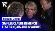 """""""Ma mère est très réconfortée."""" Venue remercier les Français présents aux Invalides, Claude Chirac témoigne de l'émotion de Bernadette"""