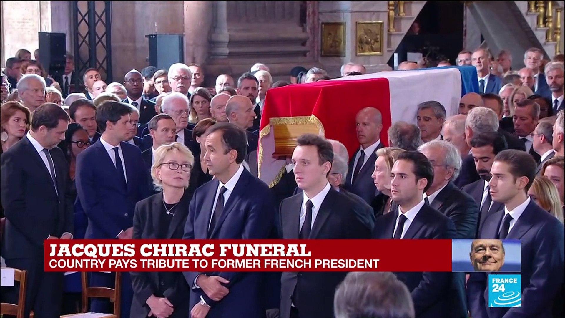 Jacques Chirac funeral: Coffin enters Saint-Sulpice church