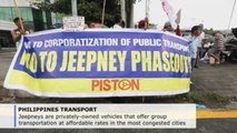 Jeepney drivers in the Philippines strike over modernization plans