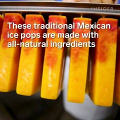 These traditional Mexican ice pops are made with all-natural ingredients
