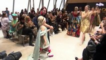 Nine-year-old amputee models on catwalk in Paris Fashion Week
