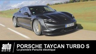 Porsche Taycan Turbo S ESSAI de la 1ere Porsche électrique de 761 ch !
