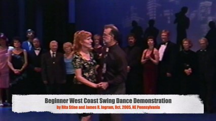 408 Beginner West Coast Swing Dance Demonstration, Rita Stine & James R. Ingram (Oct. 2005, NE PA)