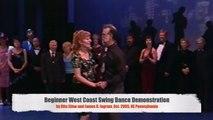 408 Beginner West Coast Swing Dance Demonstration, Rita Stine & James R. Ingram (Oct. 2005, NE PA)