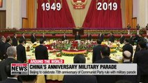China to celebrate 70th anniversary of Communist Party rule with military parade in Beijing