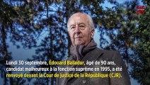 Édouard Balladur renvoyé devant la Cour de justice de la République