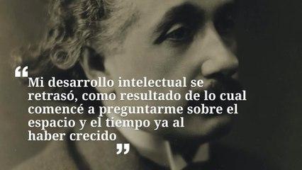 8 frases del tiempo de Albert Einstein