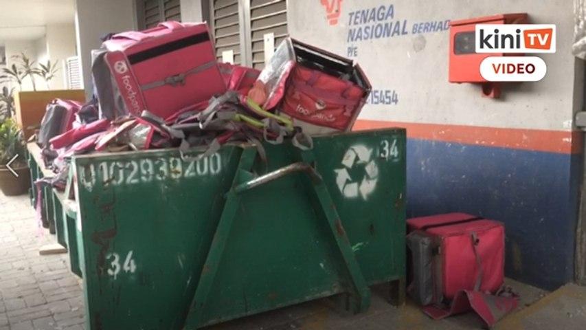Beg hantaran Foodpanda dijumpai dalam tong sampah
