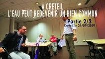 Eau bien commun.  Pour une Régie Public à  Creteil ! (partie 2).