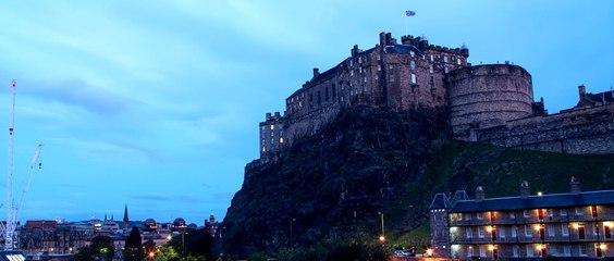 A timelapse of Edinburgh Castle