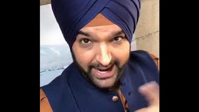 A funny video of Kapil Sharma mimicking  Navjyot Singh Siddhu