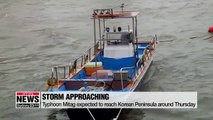 Typhoon Mitag to reach Korean Peninsula by Thursday