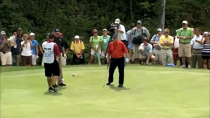 Jack Nicklaus montre à Johnny Miller comment jouer son coup - PGA 2010