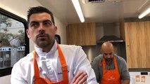 À Auray, un atelier avec Anthony Jehanno, chef étoilé dans le camion de la Banque alimentaire