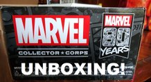 Marvel Studios Collectors Corps Funko Pop 80th Anniversary Box Unboxing Review