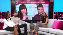 Jonathan Scott and Zooey Deschanel Share a Kiss While Sitting Front Row at DWTS Taping