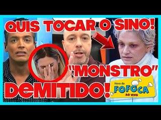 Escobar é exposto pelo filho+ SBT demite integrante do Fofocalizando + Andréa ameaça sair da Fazenda