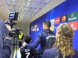 Ligue des Champions: Groupe D - Cristiano Ronaldo quitte le stade avec son fils