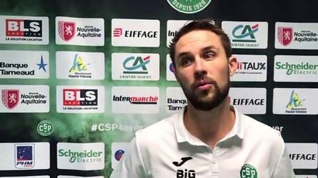 Interview Benjamin Villeger avant Tofas Bursa - Limoges CSP