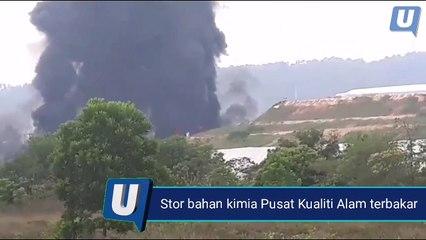 Stor bahan kimia Pusat Kualiti Alam terbakar