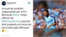 Manchester City : Bernardo Silva poursuivi par la fédération anglaise après son tweet jugé raciste