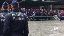 Grand Place, Bruxelles : La Princesse Astrid assiste aux Fastes de la Zone de Police Bruxelles Capitale – Ixelles. (vidéo Germani)