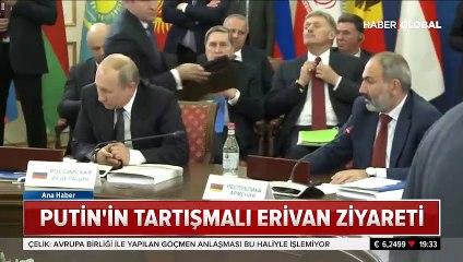 Ermenistan ziyaretinde Putin'e saygısızlık