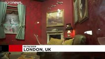 Banksy art turns heads in London suburb shop