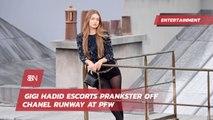 Gigi Hadid And The Paris Fashion Week Prankster