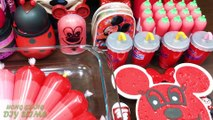 Mickey Mouse Slime | Pink vs Red! Mixing Mixing Random Things into Slime! Satisfying Slime  565