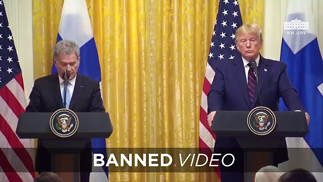 President Trump Attacks Corrupt Fake News In Joint Press Conference With Finnish President