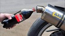 EXPERIMENT COCA COLA ZERO in MOTORCYCLE EXHAUST