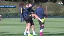 Quand David Luiz amuse la galerie à l'entraînement d'Arsenal