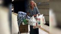 La vagabunda de la ópera: su voz emociona en el metro de Los Ángeles