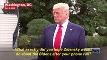 Trump Openly Calls For China, Ukraine To Investigate Bidens Amid Impeachment Inquiry