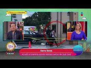 ¡Sarita Sosa llega a la funeraria para ver el cuerpo de José José! | Sale el Sol