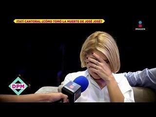Itatí Cantoral rompe en llanto por muerte de José José  | De Primera Mano